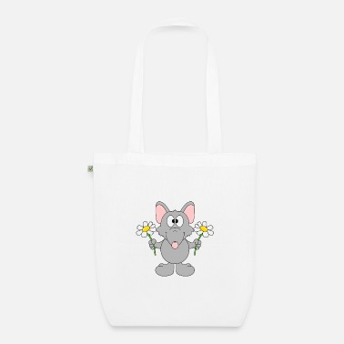 Trend Funny Rat - Flowers - Gift - Animal - Fun - Organic Tote Bag