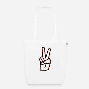 Asiti Peace sign - Organic Tote Bag