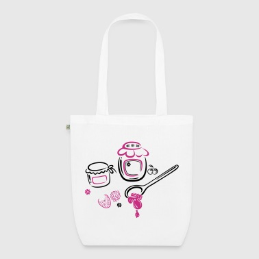 Large jars with jam and fruits - EarthPositive Tote Bag