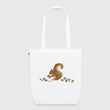 A squirrel with an acorn - EarthPositive Tote Bag
