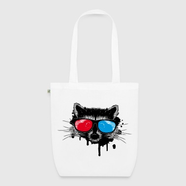 Raccoon with 3D glasses - EarthPositive Tote Bag