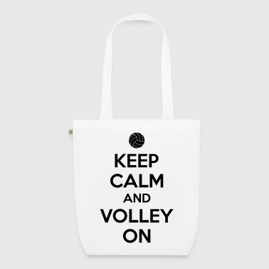 Kepp calm and volley on - EarthPositive Tote Bag