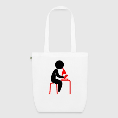 A scientist looks into his microscope - EarthPositive Tote Bag