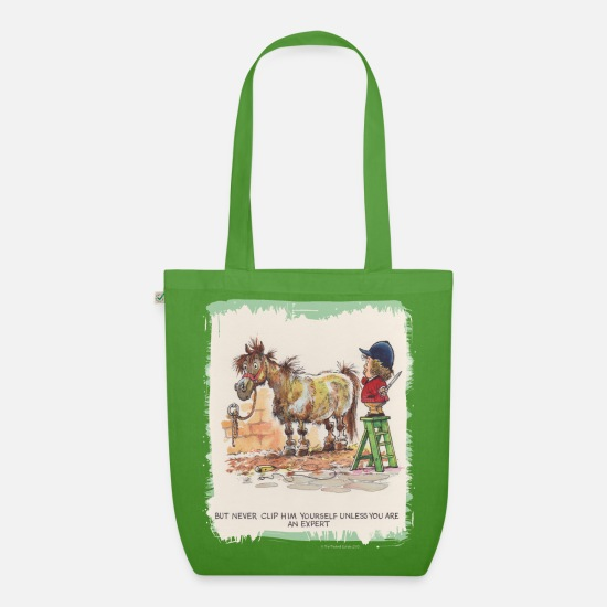 Officialbrands Bags & Backpacks - Thelwell - Pony with hairdresser - Organic Tote Bag leaf green