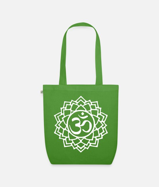 Enlightenment Bags & Backpacks - Crown chakra - Organic Tote Bag leaf green
