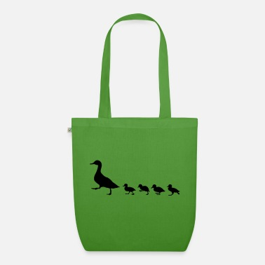 Duck duck family, duck and ducklings - Organic Tote Bag