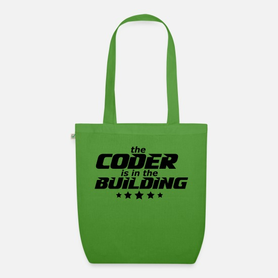 Programmer Bags & Backpacks - programmer - Organic Tote Bag leaf green