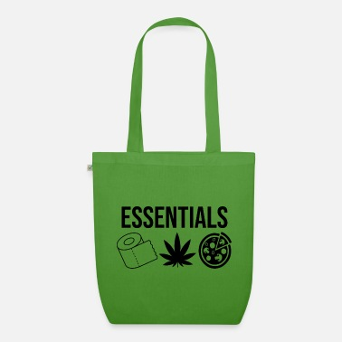 Essentials Toilet Paper Weed Pizza - Organic Tote Bag