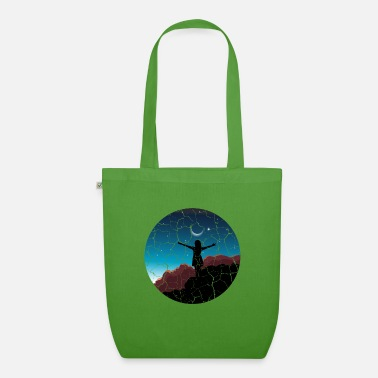 Soul Girl moon sunset Free woman gift - Organic Tote Bag