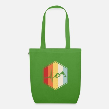 Mountain Climbing Hiking mountaineer mountains heartbeat climbing - Organic Tote Bag