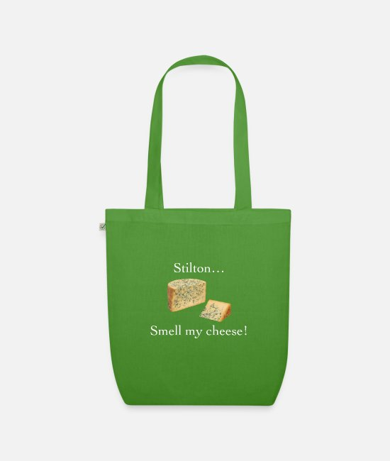 Smell My Cheese Bags & Backpacks - Smell My Cheese - Organic Tote Bag leaf green