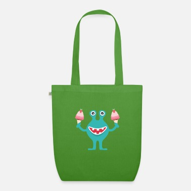 Kenny - the little monster is happy about ice - Organic Tote Bag