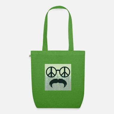 Glass Underwear great hipster beard beard glasses love peace hippie - Organic Tote Bag