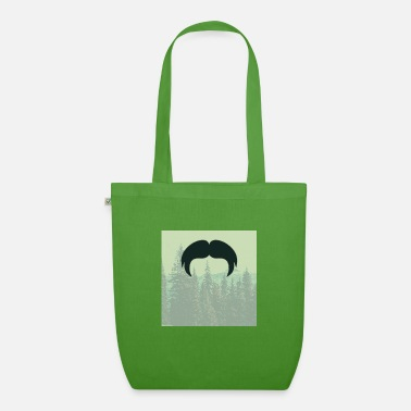 Glass Underwear Hipster beard beard in the forest mustache - Organic Tote Bag