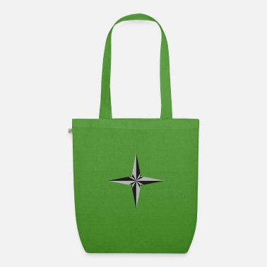 Poinsettia star in gray and black - Organic Tote Bag