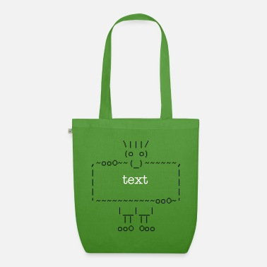 Internet ascii art: troll + your text - Økologisk mulepose