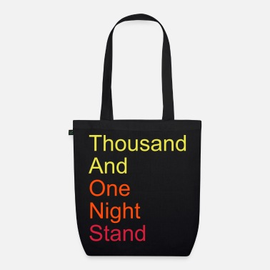 Citations thousand and one night stand 3colors - Sac en tissu biologique