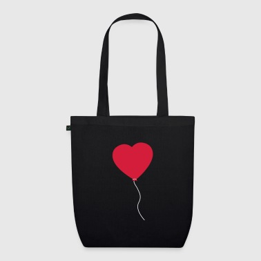 Love Heart Balloon - Borsa ecologica in tessuto