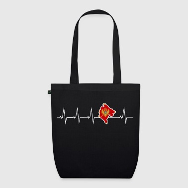 I love Montenegro - heartbeat - EarthPositive Tote Bag