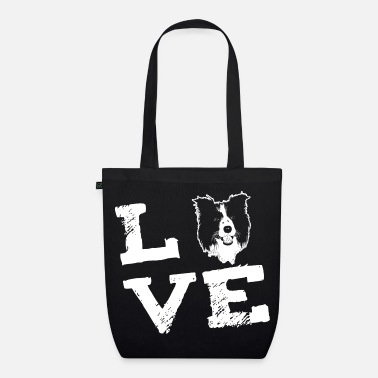 Border Collie LOVE - Border Collie - Bio stoffen tas