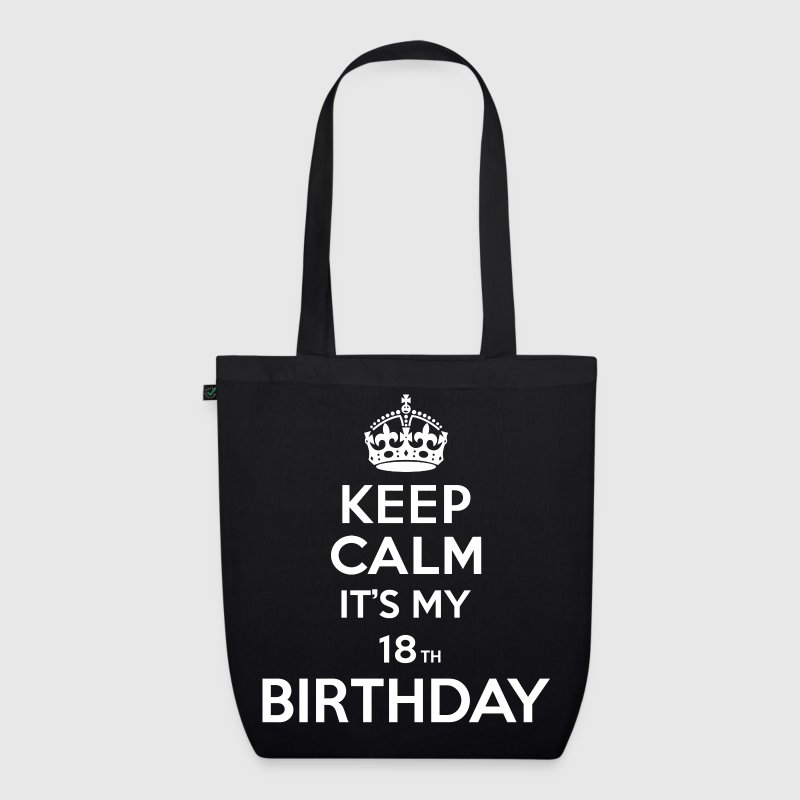 Keep calm - 18 - birthday - EarthPositive Tote Bag