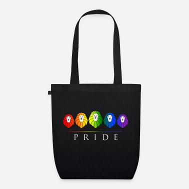Gay Gay Pride LGBT Rainbow Lions - EarthPositive Tote Bag