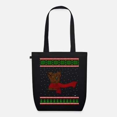 Knitted Snow Puppy - EarthPositive Tote Bag