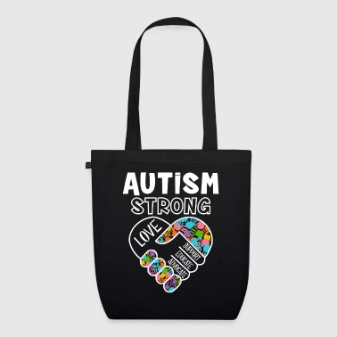Autism strong love support educate advocate - Bio stoffen tas