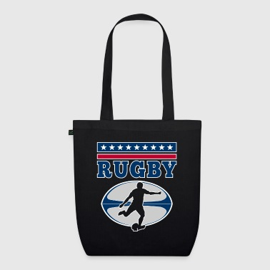 Rugby - football vintage USA player design - Bio-Stoffbeutel