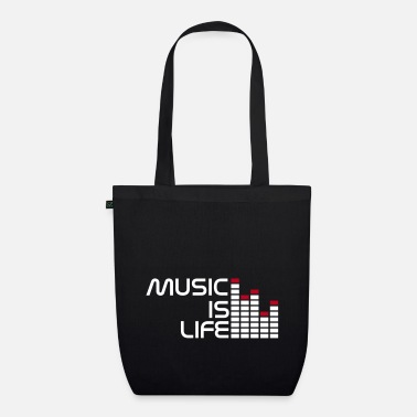 Concert music is life equalizer r EN - EarthPositive Tote Bag