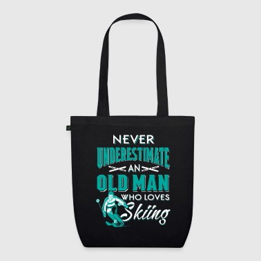 Never underestimate an old man who loves skiing  - Bolsa de tela ecológica