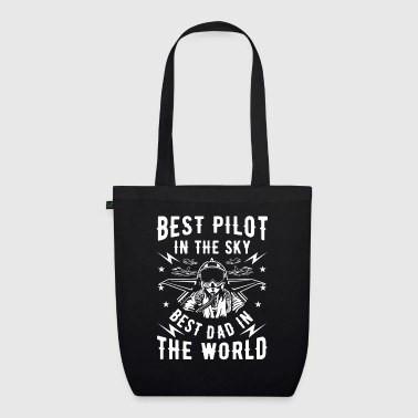 Airline Best pilot in the sky best dad in the world - Bio stoffen tas