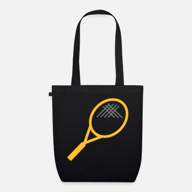 Tennis Racket Tennis - EarthPositive Tote Bag