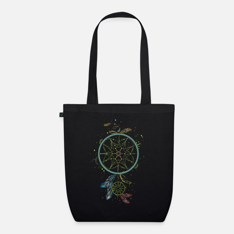 Dream Catcher Bags & Backpacks - Dreamcatcher - Organic Tote Bag black