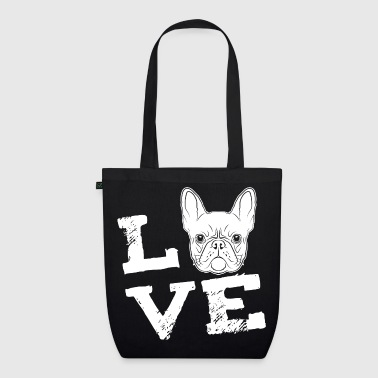 LOVE - French Bulldog - French Bulldog - EarthPositive Tote Bag