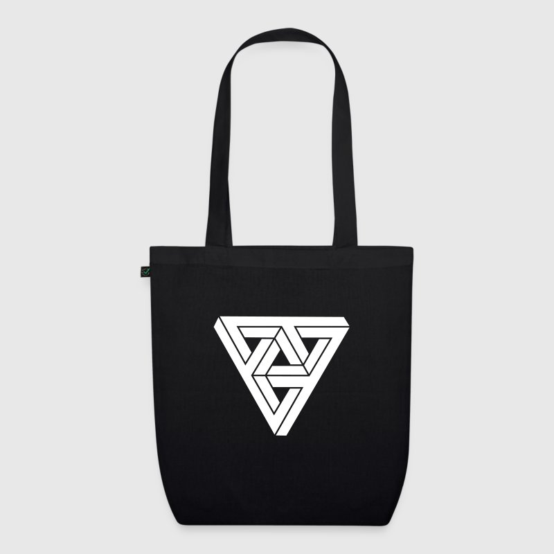 Optical illusion Triangle Minimal Shape - EarthPositive Tote Bag