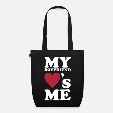 Couples &amp MY BOYFRIEND LOVES ME - Organic Tote Bag