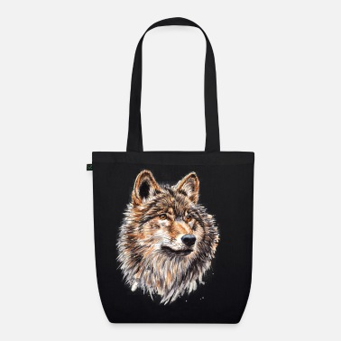 Wolf Painting - Organic Tote Bag