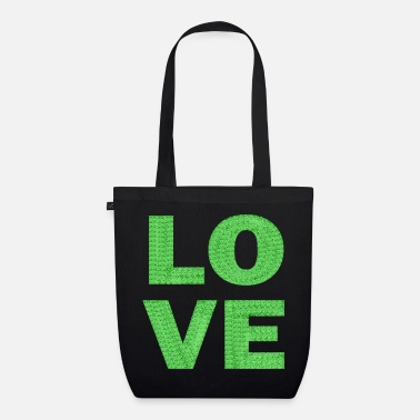love light green lace - Organic Tote Bag
