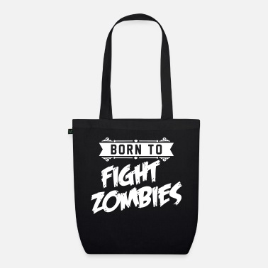 Halloween Born to fight Zombies - Halloween - baby Kostüm - Bio Stoffbeutel