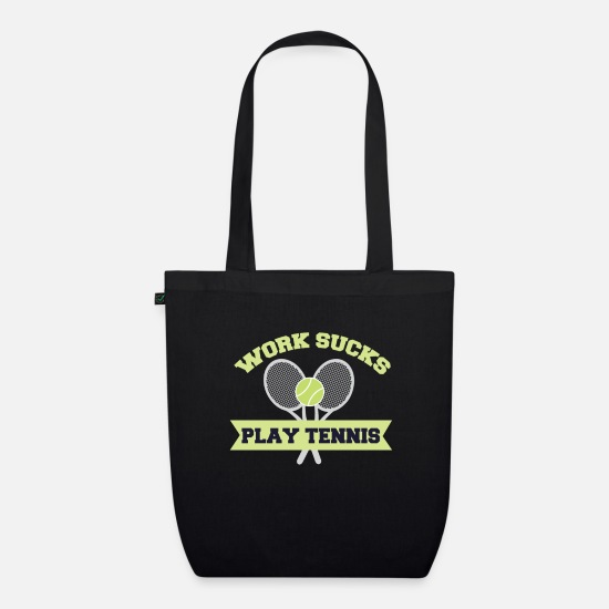 Ass Bags & Backpacks - Tennis Works Annoying Hobby Funny Gift - Organic Tote Bag black