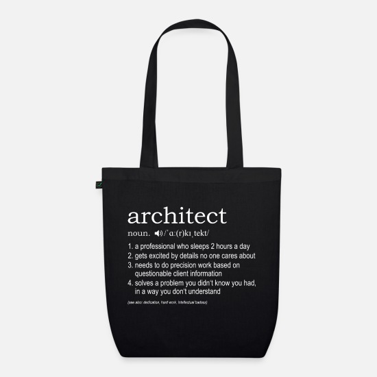 Architect Bags & Backpacks - Architect definition - Organic Tote Bag black