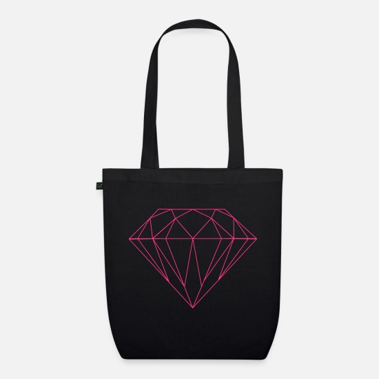 Tattoo Bags & Backpacks - diamond - Organic Tote Bag black