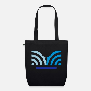 Pc get in touch with social media + username - Organic Tote Bag
