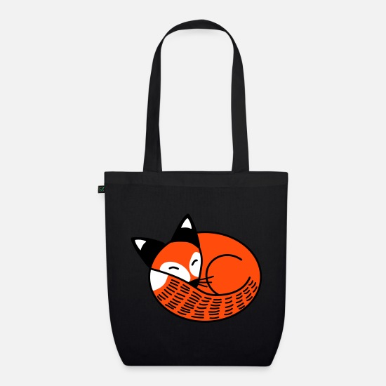 Christmas Bags & Backpacks - Sleepy Fox - Organic Tote Bag black