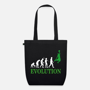 Neanderthal evolution of the human being and basketball - Organic Tote Bag