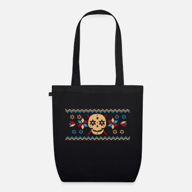 Pattern Skull pattern in the Norwegian style  - Organic Tote Bag