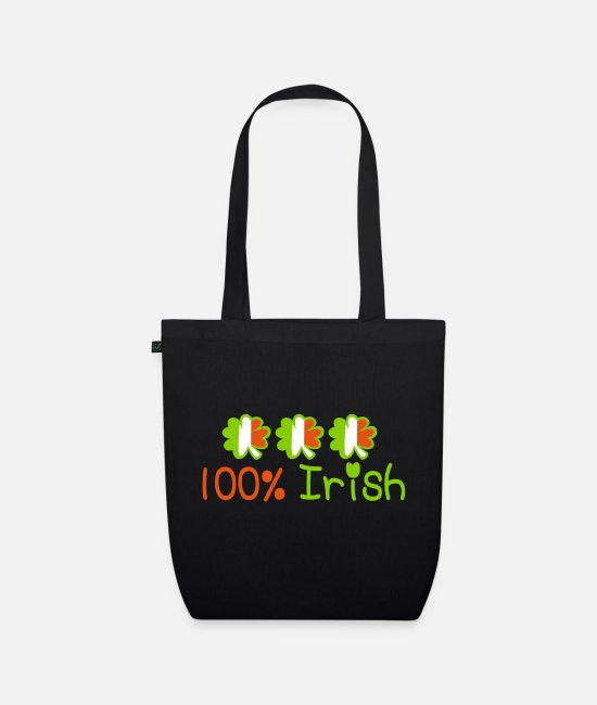 I Want To Marry Irish I Want To Have A Irish Girlfriend Irish Boyfriend Irish Husband Irish Wife Iri Bags & Backpacks - ♥ټ☘Kiss Me I'm 100% Irish-Irish Rule☘ټ♥ - Organic Tote Bag black