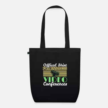Job Underwear Video conference office humor work colleagues - Organic Tote Bag