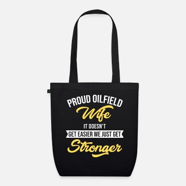 Oilfield OILFIELD: Oilfield Wife - Organic Tote Bag